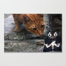 cat with pantomime confused Canvas Print