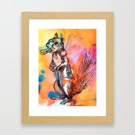 Pop art squirrel Framed Art Print