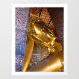 Reclining Buddha, Wat Pho, Bangkok, Thailand Art Print