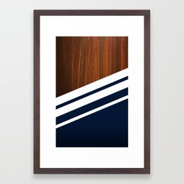 Wooden Navy Framed Art Print