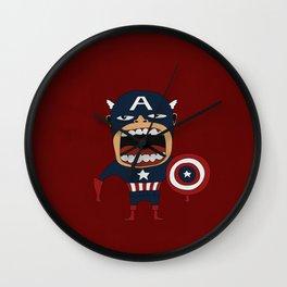 Screaming Captain America Wall Clock