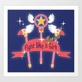 Fight like a Magical Girl - CCS Art Print