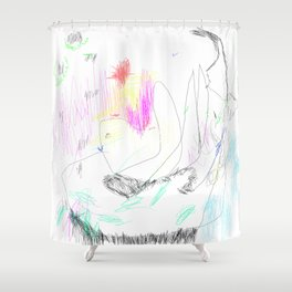 abstract whale Shower Curtain