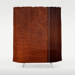 Brown leather look #2 Shower Curtain