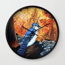 Blue Jay Life Wall Clock