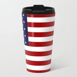 America Flag Metal Travel Mug