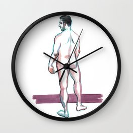 MAX, Nude Male by Frank-Joseph Wall Clock