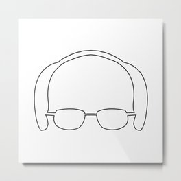 Bernie Sanders Silhouette Metal Print