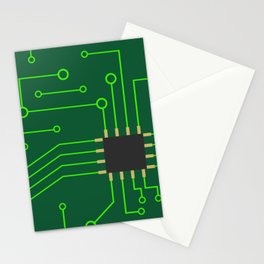 Microchip Pcb, tech print Stationery Cards