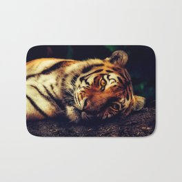 The Powerful Tiger at Rest Bath Mat