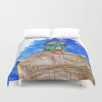 little prince Duvet Covers featuring Little Prince Vader by gunberk