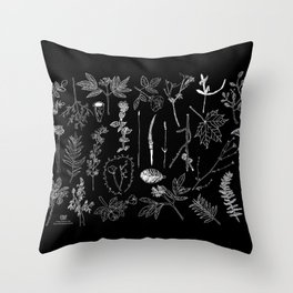 Nature Botanical Drawings by young kid artists, profits are donated to The Ivy Montessori School Throw Pillow