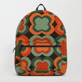 Retro Color Flower Pattern Backpack