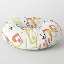 1950 Colors Mid Century Modern Atomic Age Pattern Floor Pillow