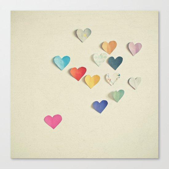 Paper Hearts Canvas Print