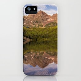 Early Summer Morning at Maroon Bells iPhone Case