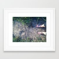 feet Framed Art Prints featuring Feet by Au Gold