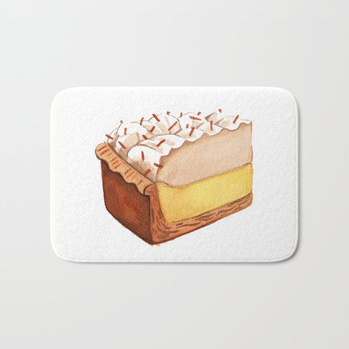 Coconut Cream Pie Slice Bath Mat