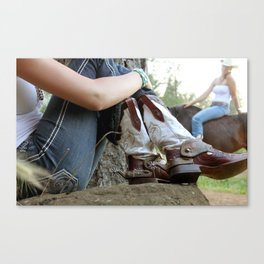 New Boots Canvas Print