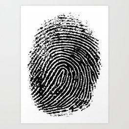 Fingerprint Art Print