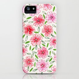 Loose and free florals iPhone Case