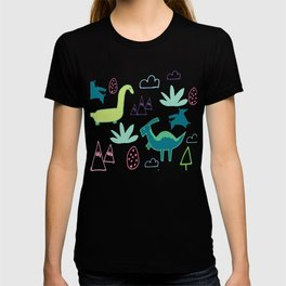 Dino Fun land Blue T-shirt