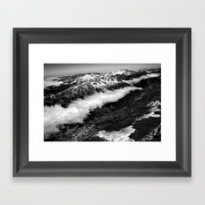 View from Mont Blanc of Chamonix, France. Framed Art Print