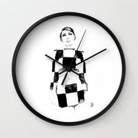 mod Wall Clocks featuring Mod by Sarah Maltas