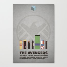 The Avengers - minimal poster Canvas Print