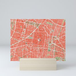 Mexico city map classic Mini Art Print
