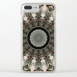 Vintage Bohemian Mandala Design Clear iPhone Case