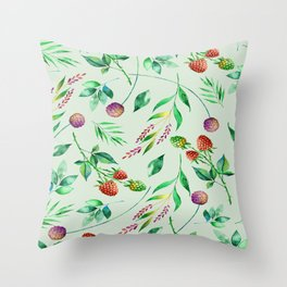 Classic Floral Pattern Throw Pillow
