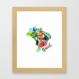 Brasil Watercolor Framed Art Print
