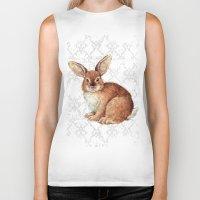 rabbit Biker Tanks featuring Rabbit by Patrizia Ambrosini