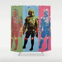 boba Shower Curtains featuring Boba Warhol by Hooligan 77
