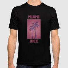 Miami Vice Mens Fitted Tee Black MEDIUM