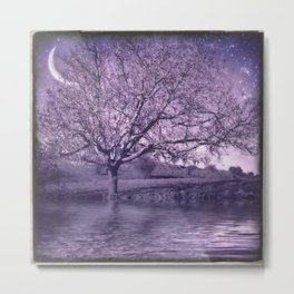 Tree at Imbolc Night Metal Print