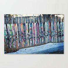 Skis Canvas Print