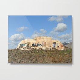 Old ruin with graffiti on Lanzarote Metal Print