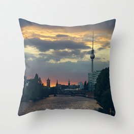 Berlin Red Throw Pillow