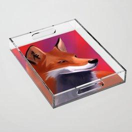 Fox Painting Acrylic Tray