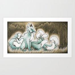 Ghostly Kitsune Art Print