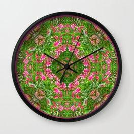 Hope Mandala for Precarious Times Wall Clock