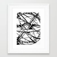 astronomy Framed Art Prints featuring Astronomy Instrument by Maioriz Home