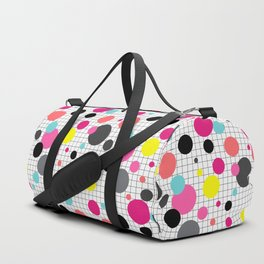 Print in memphis style design Duffle Bag