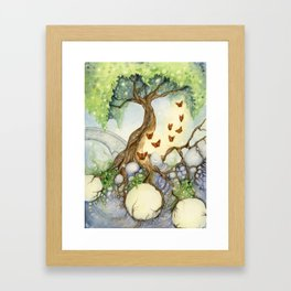 The Butterfly Tree Framed Art Print