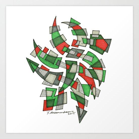 RED GREEN Art Print