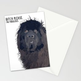 Bitch Please.  I'm Fabulous.  Newfie Stationery Cards