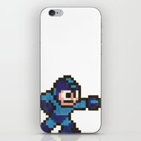 mega man iPhone & iPod Skins featuring Mega Man by Alison Hinch