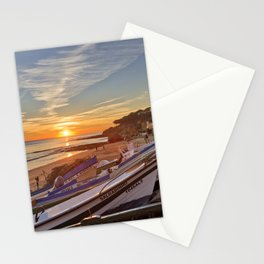 Olhos d'Agua sunset, Algarve Stationery Cards